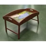 Столик для завтрака в постель с высоким бортиком «Солнечный край»