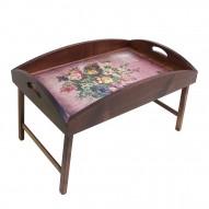 Столик для завтрака в постель с высоким бортиком «Букет»