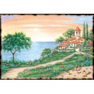 Декупажная карта «Домик у моря»