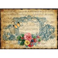 Декупажная карта «Музыка души»
