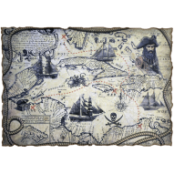 Декупажная карта «Пиратская карта»