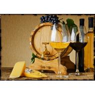 Декупажная карта «Бочонок вина»