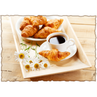 Декупажная карта «Франзузский завтрак»
