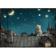 Декупажная карта «Волшебная ночь»