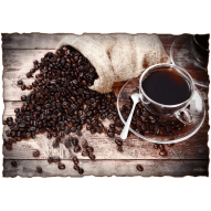 Декупажная карта «Утренний кофе»