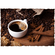 Декупажная карта «Кофе с корицей»