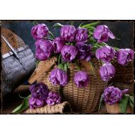 Декупажная карта «Махровые тюльпаны»