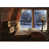 Декупажная карта «Зимний вечер»