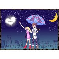 Декупажная карта «Любовь это»