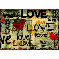 Декупажная карта «Любимым»