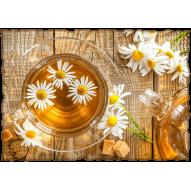 Декупажная карта «Ромашковый чай»