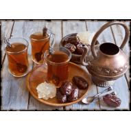 Декупажная карта «Восточное чаепитие»