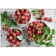 Декупажная карта «Вкус малины на губах»