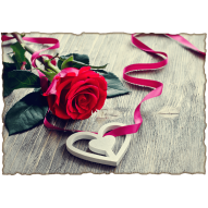 Декупажная карта «Дарю свое сердце»