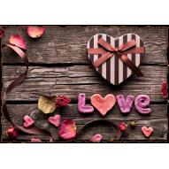 Декупажная карта «Дела сердечные»