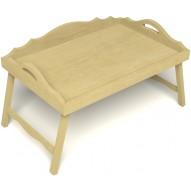 Столик для завтрака в постель с 3-мя фигурными бортиками цвет светлый