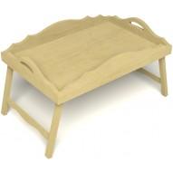 Столик для завтрака в постель с фигурными бортиками цвет светлый