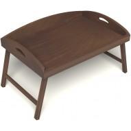 Столик для завтрака в постель с 3-мя высокими бортиками цвет орех