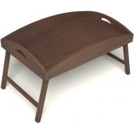Столик для завтрака в постель с высокими бортиками цвет орех
