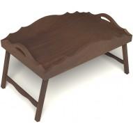 Столик для завтрака в постель с фигурными бортиками цвет орех