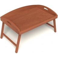 Столик для завтрака в постель с 3-мя высокими бортиками цвет вишня