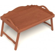 Столик для завтрака в постель с 3-мя фигурными бортиками цвет вишня