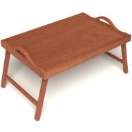 Столик для завтрака в постель с ручками цвет вишня