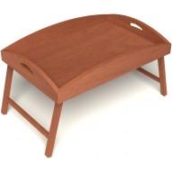 Столик для завтрака в постель с высокими бортиками цвет вишня