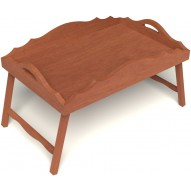 Столик для завтрака в постель с фигурными бортиками цвет вишня