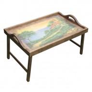 Столик для завтрака в постель с ручками «Домик у моря»