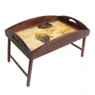 Столик для завтрака в постель с высоким бортиком «Нежность»