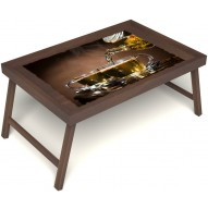 Столик для завтрака в постель «Чайная церемония» без ручек цвет орех