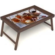 Столик для завтрака в постель «Восточное чаепитие» без ручек цвет орех