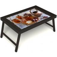 Столик для завтрака в постель «Восточное чаепитие» без ручек цвет венге