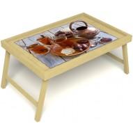 Столик для завтрака в постель «Восточное чаепитие» без ручек цвет светлый