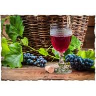 Декупажная карта «Бокал вина»