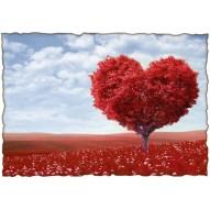 Декупажная карта «Дерево любви»