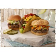 Декупажная карта «Гамбургеры»