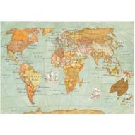 Декупажная карта «Кругосветное путешествие»