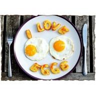 Декупажная карта «Любовь к яичнице»