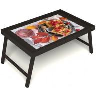 Столик для завтрака в постель «Малиновое настроение» без ручек цвет венге