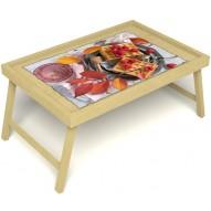 Столик для завтрака в постель «Малиновое настроение» без ручек цвет светлый