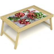 Столик для завтрака в постель «Вкус малины на губах» без ручек цвет светлый