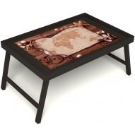 Столик для завтрака в постель «Карта» без ручек цвет венге