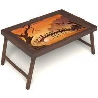 Столик для завтрака в постель «Путь к себе» без ручек цвет орех