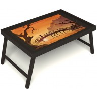 Столик для завтрака в постель «Путь к себе» без ручек цвет венге