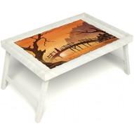 Столик для завтрака в постель «Русская берёза», «Путь к себе» без ручек цвет белый