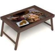 Столик для завтрака в постель «Дело в шляпе» без ручек цвет орех