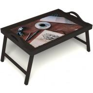 Столик для завтрака в постель «Эспрессо» с ручками цвет венге