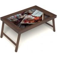 Столик для завтрака в постель «Идеальное утро» без ручек цвет орех